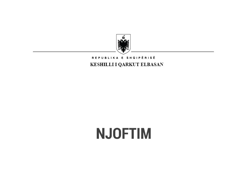 Këshilli i Qarkut Elbasan- Njoftim fituesi më datë 16.08.2021